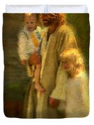 In The Arms Of His Love Duvet Cover by Greg Olsen
