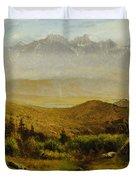 In The Foothills Of The Rockies Duvet Cover by Albert Bierstadt