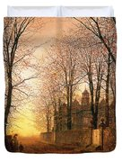 In The Golden Olden Time Duvet Cover by John Atkinson Grimshaw