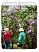 In The Lilac Garden Duvet Cover by Susan Savad