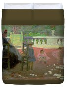 In The Luxembourg Gardens  Duvet Cover by Henri Edmond Cross