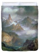 Index Peak Duvet Cover by Thomas Moran