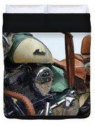 Indian Chief Vintage L Duvet Cover by Michelle Calkins