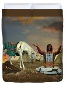 Indian Cry For Rain Duvet Cover by Corey Ford