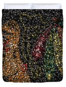 Indian Hockey Puck Mosaic Duvet Cover by Paul Van Scott