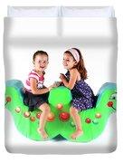 Indoor Playground Duvet Cover by Oren Shalev