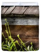 Insect - Spider - Charlottes Web Duvet Cover by Mike Savad