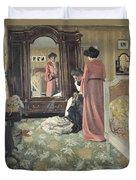 Interior Duvet Cover by Felix Edouard Vallotton
