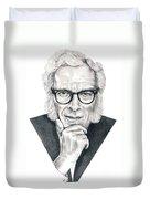 Isaac Asimov Duvet Cover by Murphy Elliott