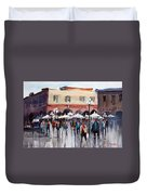 Italian Marketplace Duvet Cover by Ryan Radke