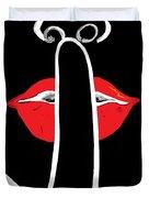 It's A Secret Duvet Cover by Eloise Schneider