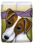 Jack Russell Duvet Cover by Leanne Wilkes