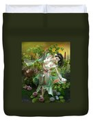 Jade Duvet Cover by Mary Hood