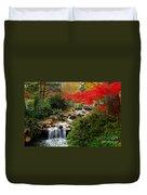 Japanese Garden Brook Duvet Cover by Jon Holiday