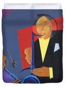 Jazz Sharp Duvet Cover by Kaaria Mucherera