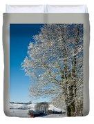 Jenne Farm Winter In Vermont Duvet Cover by Edward Fielding