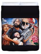 Jerry Garcia And The Grateful Dead Duvet Cover by Darwin Leon