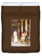 Jesus Being Interviewed Privately Duvet Cover by William Brassey Hole
