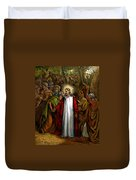 Jesus Betrayed Duvet Cover by John Lautermilch
