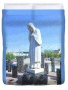Jesus Wept 3 Duvet Cover by Betty LaRue