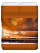 Jetties On The Shore Duvet Cover by James Christopher Hill
