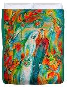 Jewish Wedding Duvet Cover by Leon Zernitsky