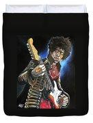 Jimi Hendrix Duvet Cover by Tom Carlton