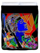 Jimi In Heaven Colorful Duvet Cover by Navo Art