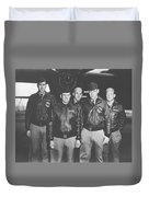 Jimmy Doolittle And His Crew Duvet Cover by War Is Hell Store