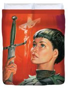 Joan Of Arc Duvet Cover by James Edwin McConnell