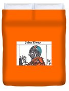 John Elway 2 Duvet Cover by Jeremiah Colley
