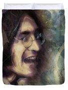 John Lennon Tribute- Don't Let Me Down Duvet Cover by David Finley