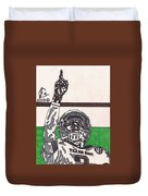 Johnny Manziel 7 Duvet Cover by Jeremiah Colley