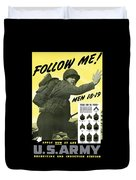 Join The Us Army Duvet Cover by War Is Hell Store