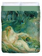 Jupiter And Callisto Duvet Cover by Berthe Morisot