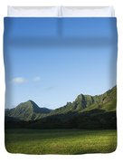 Kaaawa Valley Duvet Cover by Dana Edmunds - Printscapes