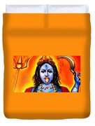 Kali  -hindu Goddess Duvet Cover by Carmen Cordova