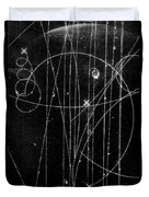Kaon Proton Collision Duvet Cover by SPL and Photo Researchers