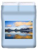 Ketchikan Sunrise Duvet Cover by Mike  Dawson