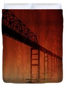 KEY BRIDGE ARTISTIC  IN BALTIMORE MARYLAND Duvet Cover by Skip Willits