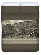 Kindred Barns Sepia Duvet Cover by Steve Harrington