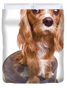 King Charles Spaniel Puppy Duvet Cover by Edward Fielding