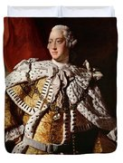 King George IIi Duvet Cover by Allan Ramsay