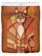 King Of The Cats Duvet Cover by Jutta Maria Pusl