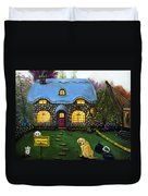 Kinkade's Worst Nightmare 2  Duvet Cover by Leah Saulnier The Painting Maniac