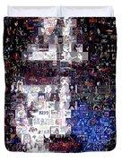 Kiss Ace Frehley Mosaic Duvet Cover by Paul Van Scott