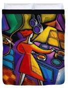 Kitchen  Duvet Cover by Leon Zernitsky