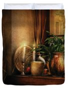 Kitchen - One fine evening Duvet Cover by Mike Savad