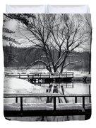 Knapp Creek at Seven Pines Lodge Duvet Cover by Cynthia Dickinson