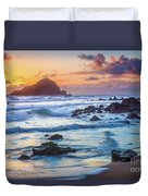 Koki Beach Harmony Duvet Cover by Inge Johnsson
